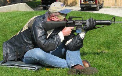 Kneeling & sitting positions for good marksmanship